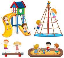 Set di scene di parco giochi