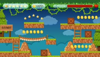 Un modello di gioco Jungle Jumping