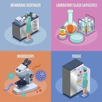 set di icone di microbiologia illustrazione vettoriale
