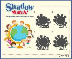Modello di gioco per i bambini che abbinano le ombre
