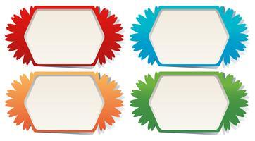 Modelli di etichette in quattro colori