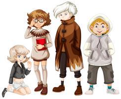 Set di giovani hipster