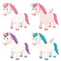 Set di diverso unicorno