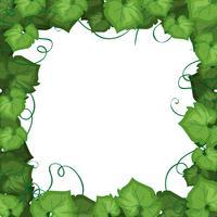 Un bordo di foglie di edera vettore