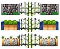 Design diverso per cancelli e pareti vettore
