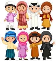 Set di caratteri arabi e musulmani vettore