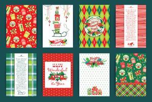 Set di Natale e Capodanno. Modelli di disegno vettoriale.