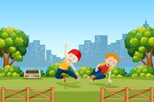 Kid urbano e street dance vettore
