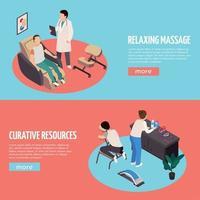 illustrazione vettoriale di banner orizzontali di massaggio rilassante