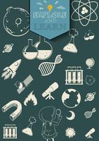 Simboli scientifici e tecnologici vettore