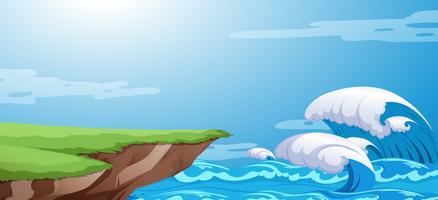Uno sfondo di scogliera dell'oceano