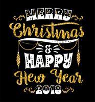 Disegni di lettere di Natale e Capodanno. Elementi vettoriali
