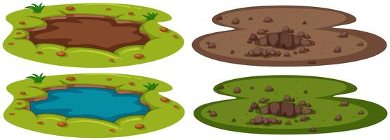 Una serie di buche sotterranee