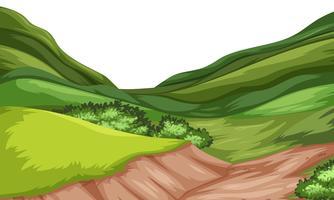 Vettore del paesaggio della collina della natura