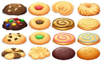 Diversi tipi di biscotti vettore