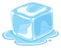 Pezzo di cubetto di ghiaccio che si scioglie vettore