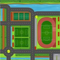 Vista aerea complesso sportivo vettore