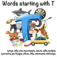 Parole in inglese a partire da T vettore