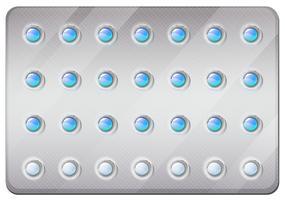 Pillole anticoncezionali in confezione vettore