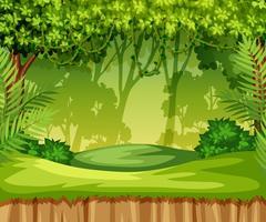 Scena del paesaggio giungla verde vettore