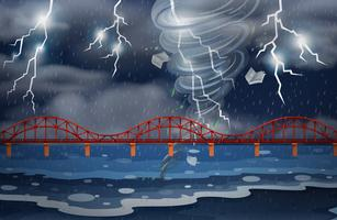 Un ciclone e un temporale