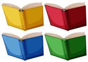 Set di libri isolati
