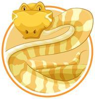 Serpente sul modello di cerchio