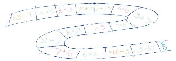Un gioco di matematica su sfondo bianco