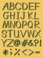 Lettere maiuscole dell'alfabeto vettore