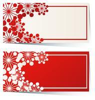 Design dell'etichetta con cerchi rossi