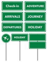 Insieme di segni di vacanza