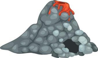 illustrazione di un vulcano vettore