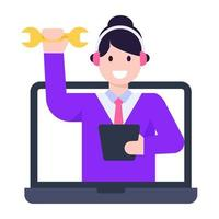 supporto tecnico online vettore