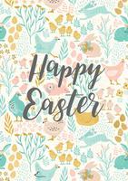 Buona Pasqua. Modelli vettoriali per carta, poster, flyer e altri utenti.