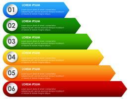 Presentazione arcobaleno decrescente inforgraphic