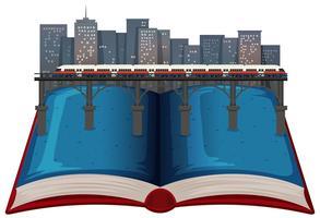 Libro aperto di città moderna