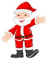 Santa felice in abito rosso vettore