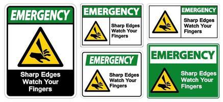 spigoli vivi di emergenza guarda il simbolo delle dita vettore