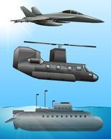 Esercito aereo e trasporto marittimo vettore