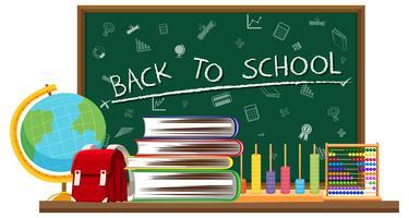 Ritorno a scuola e elementi di apprendimento vettore