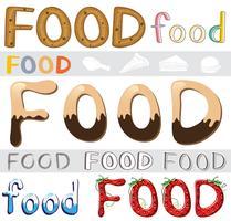 Set di opere d'arte alimentare vettore