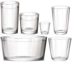 Set di occhiali vettore