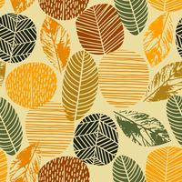 Modello senza cuciture di autunno astratto con gli alberi. Sfondo vettoriale per varie superfici.