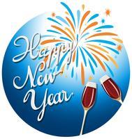 Icona di celebrazione del buon anno