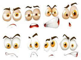 Diverse emozioni dell'espressione facciale