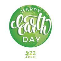 Concetto di giornata giornata della terra con il pianeta terra. vettore