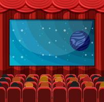 Una scena di un cinema vettore