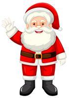 Un felice Babbo Natale su bianco backgroud