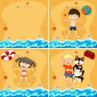 Un set di Kid a Sandy Beach