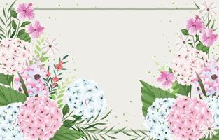 bellissimo sfondo di fiori di ortensia vettore